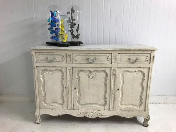 SOLD - Early Painted Oak French Sideboard - cm87